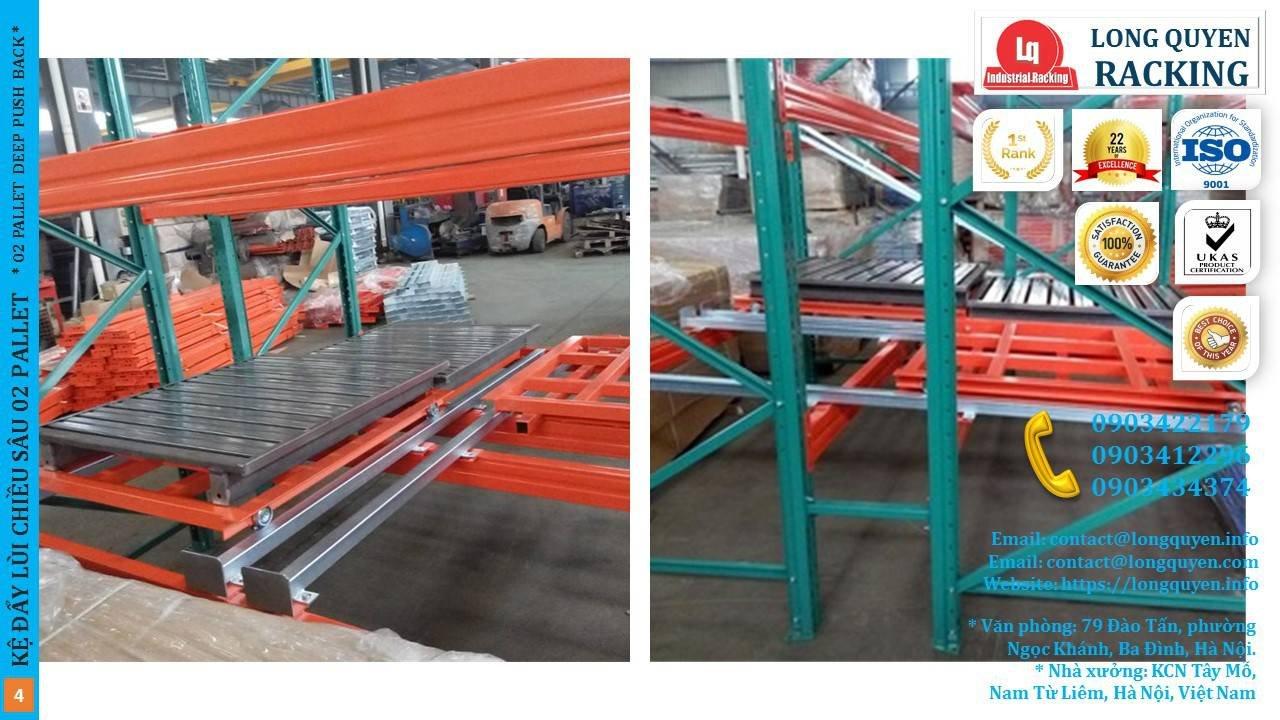 Kệ Đẩy Lùi 02 Pallet Deep Push-Back Rack (4)