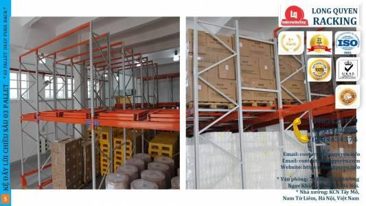 Kệ Đẩy Lùi 03 Pallet Deep Push-Back Rack Trong Kho Hàng Mật Độ Cao (5)