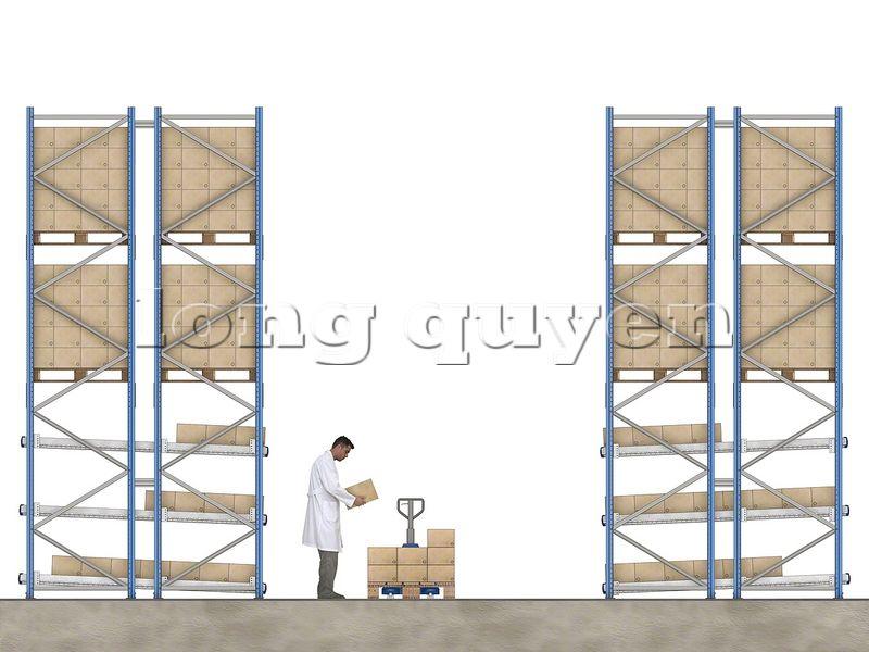 Thiết kế giá kệ trôi tích hợp để pallet (3)