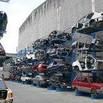 Giá kệ Cantilever lưu trữ ô tô cũ trong các kho bãi