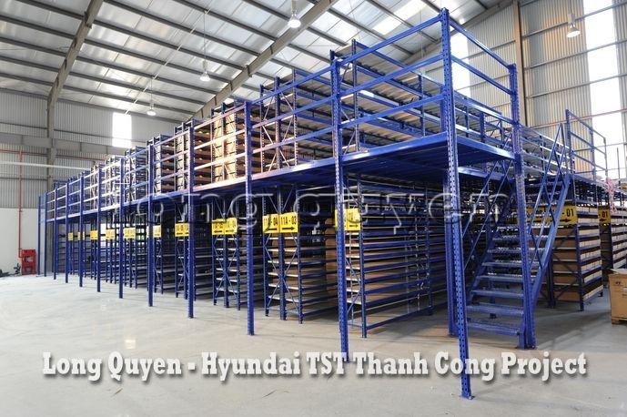 Giá Kệ Kho Phụ Tùng Sàn Tầng Lửng Công ty Hyundai TST Thành Công (1)
