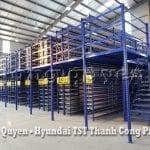 Giá Kệ Kho Phụ Tùng Sàn Tầng Lửng Công ty Hyundai TST Thành Công