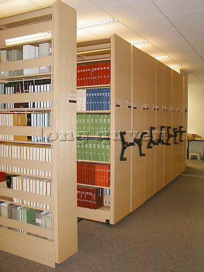 Giá kệ thư viện di động gia kệ chạy trên ray (7)