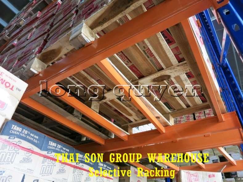 Kệ chứa hàng pallet lựa chọn Selective Pallet Rack kho Thái Sơn Group (8)