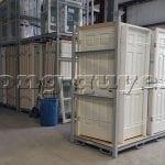 Giá kệ pallet xếp chồng lưu trữ vận chuyển khung cửa