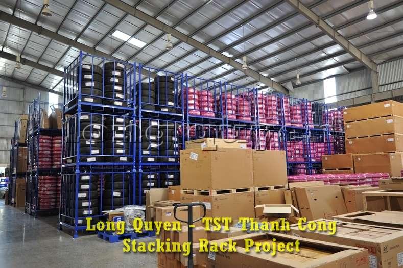 Giá kệ xếp chồng kho phụ tùng ô tô công ty TST Thành Công (6)