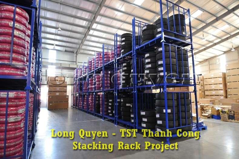 Giá kệ xếp chồng kho phụ tùng ô tô công ty TST Thành Công (7)
