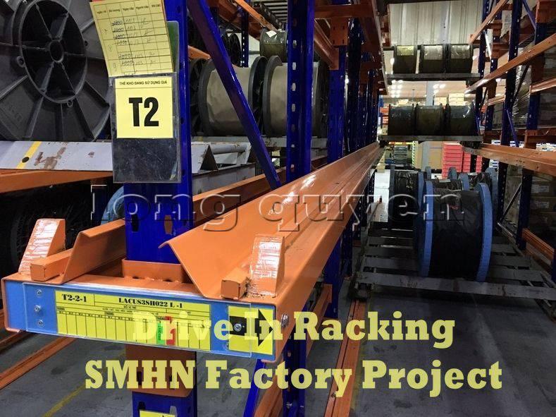 Giá kệ Drive In chứa pallet để cuộn dây nhà máy SMHN (3)