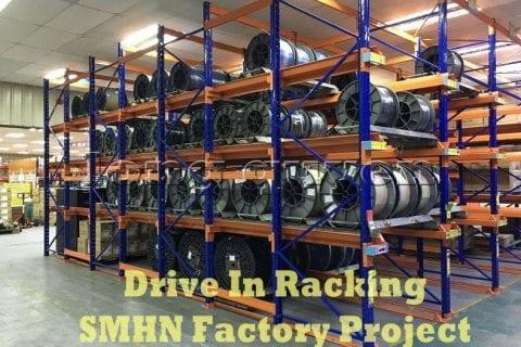 Giá kệ Drive In chứa pallet để cuộn dây nhà máy SMHN