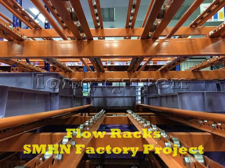 Giá kệ trôi kệ dòng chảy để vật tư trong xưởng lắp ráp nhà máy SMHN (9)