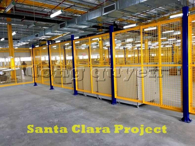 Vách ngăn lưới tháo lắp di động trong nhà máy kho hàng (2)