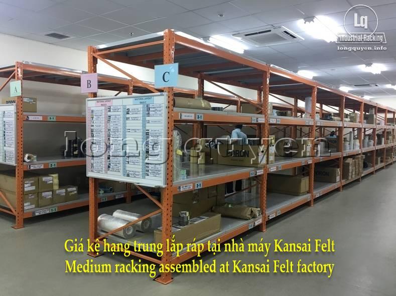 Giá kệ trung tải giá kệ hạng trung lắp ráp tại nhà máy Kansai Felt (10)