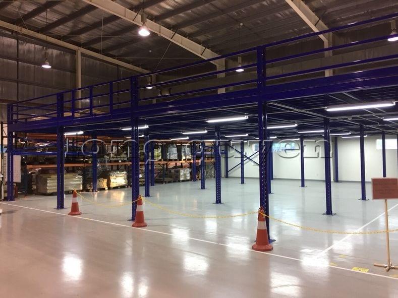 Lắp đặt sàn kho hàng tầng lửng mezzanine tại công ty Leprocon