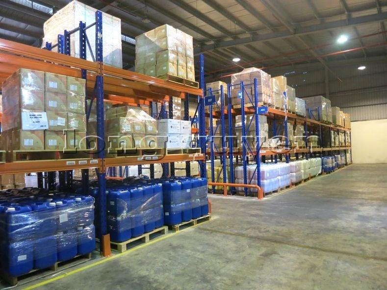 Kệ sắt kệ chứa pallet lưu trữ loại 3 thanh beam một tầng kho hàng công ty ALS (2)