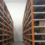 Sắt V đột lỗ lắp ráp kệ kho hàng tại công ty Kansai