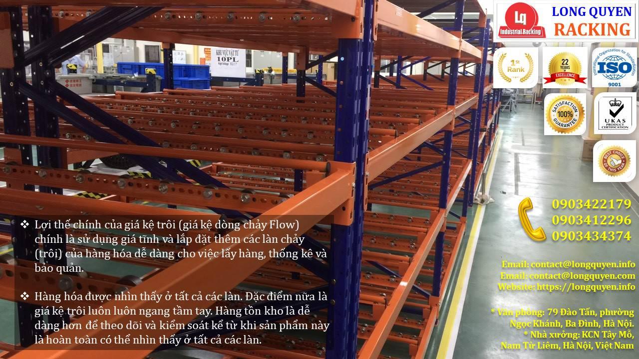 Giá kệ con lăn dòng chảy giá kệ trôi lắp đặt tại công ty Sumi Việt Nhật (3)