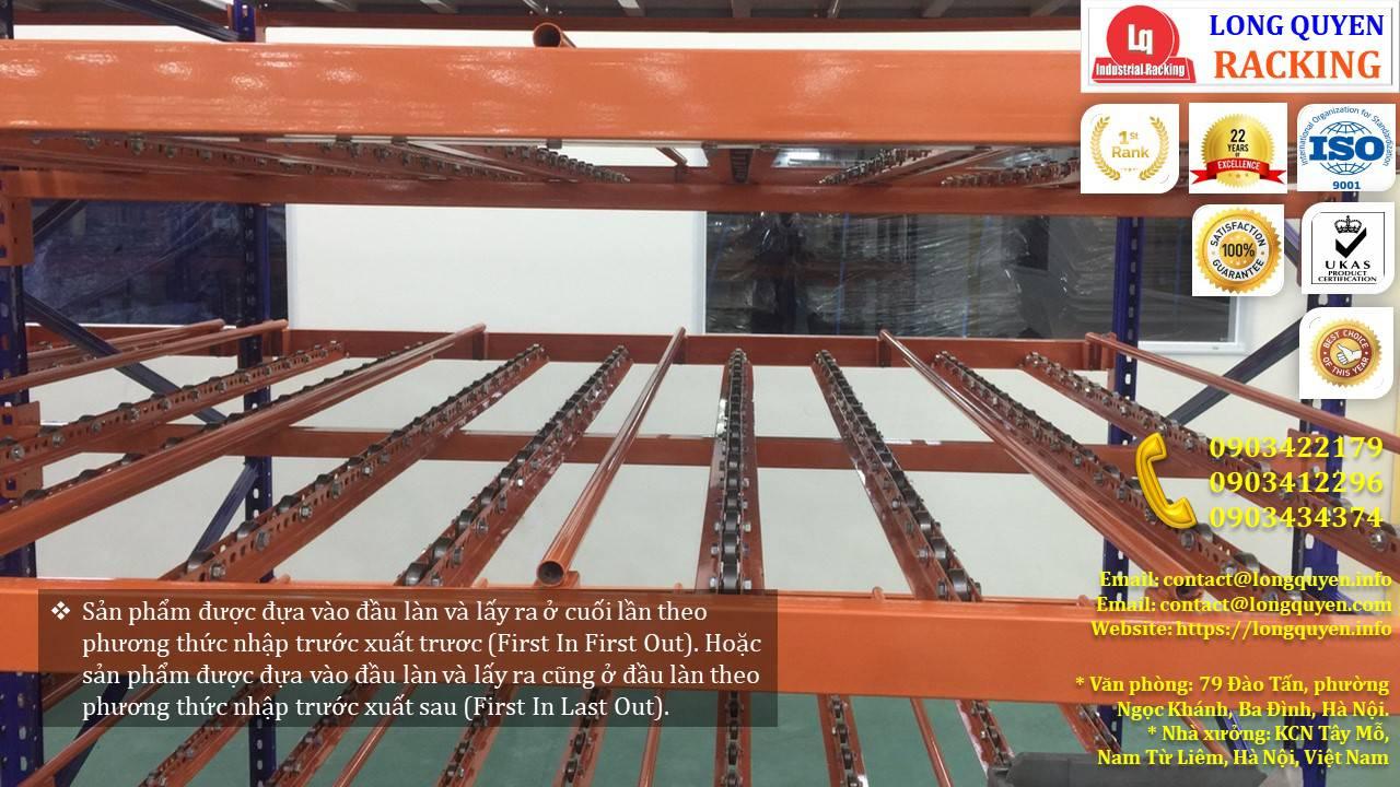 Giá kệ con lăn dòng chảy giá kệ trôi lắp đặt tại công ty Sumi Việt Nhật (6)