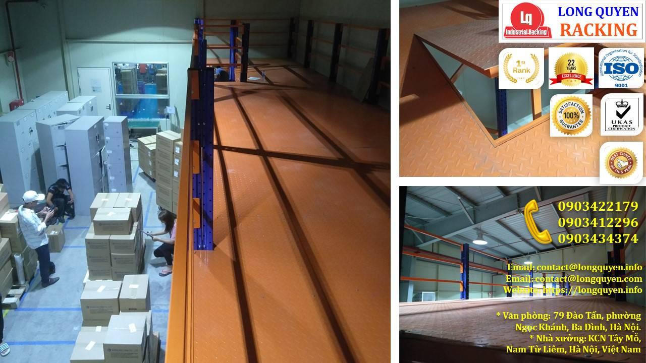 Kệ sàn kho sàn tầng lửng mezzanine san kho lắp ráp công ty Vina TC (11)