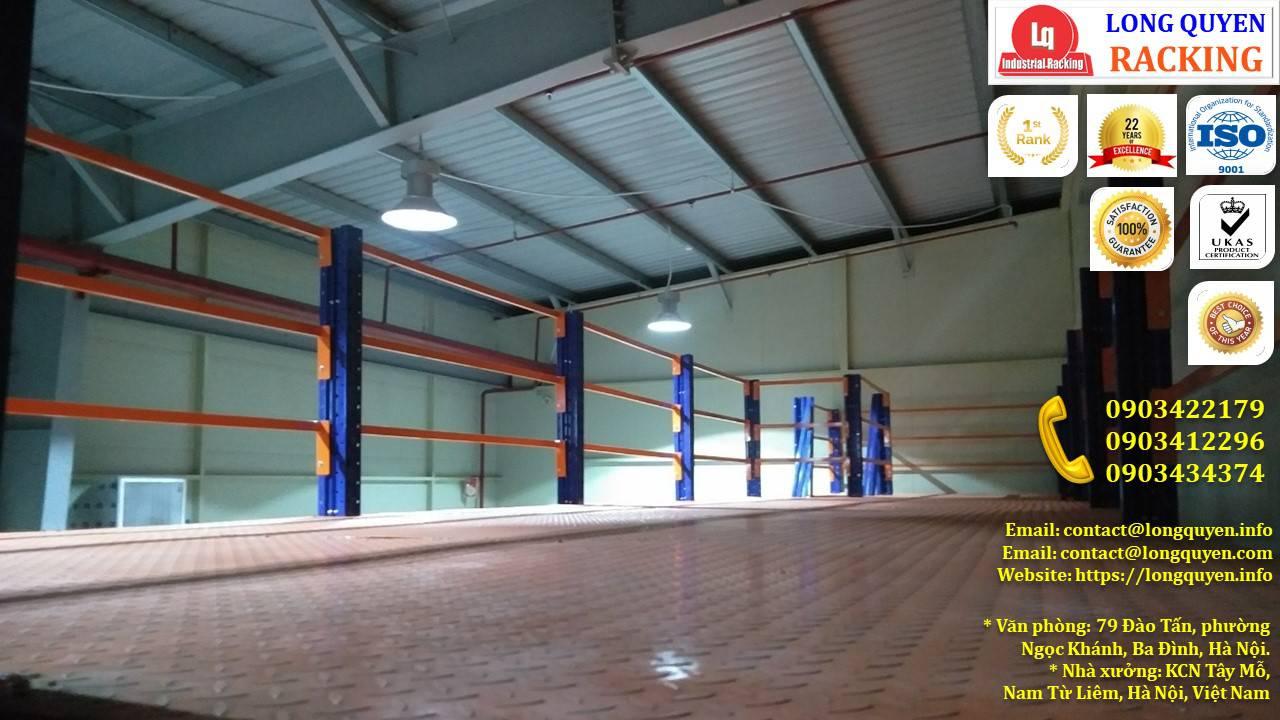 Kệ sàn kho sàn tầng lửng mezzanine san kho lắp ráp công ty Vina TC (9)