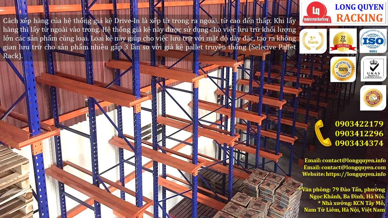Kệ Drive-In Kệ Kho Hàng Kệ Để Hàng Lắp Đặt tại Công ty Khánh Toàn (4)