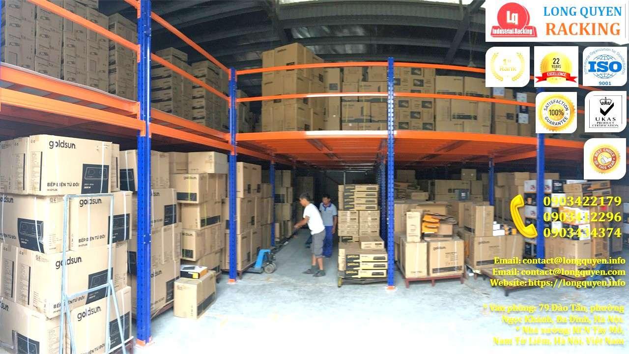 Kệ sàn tầng lửng lắp đặt tại kho hàng công ty Goldsun (7)