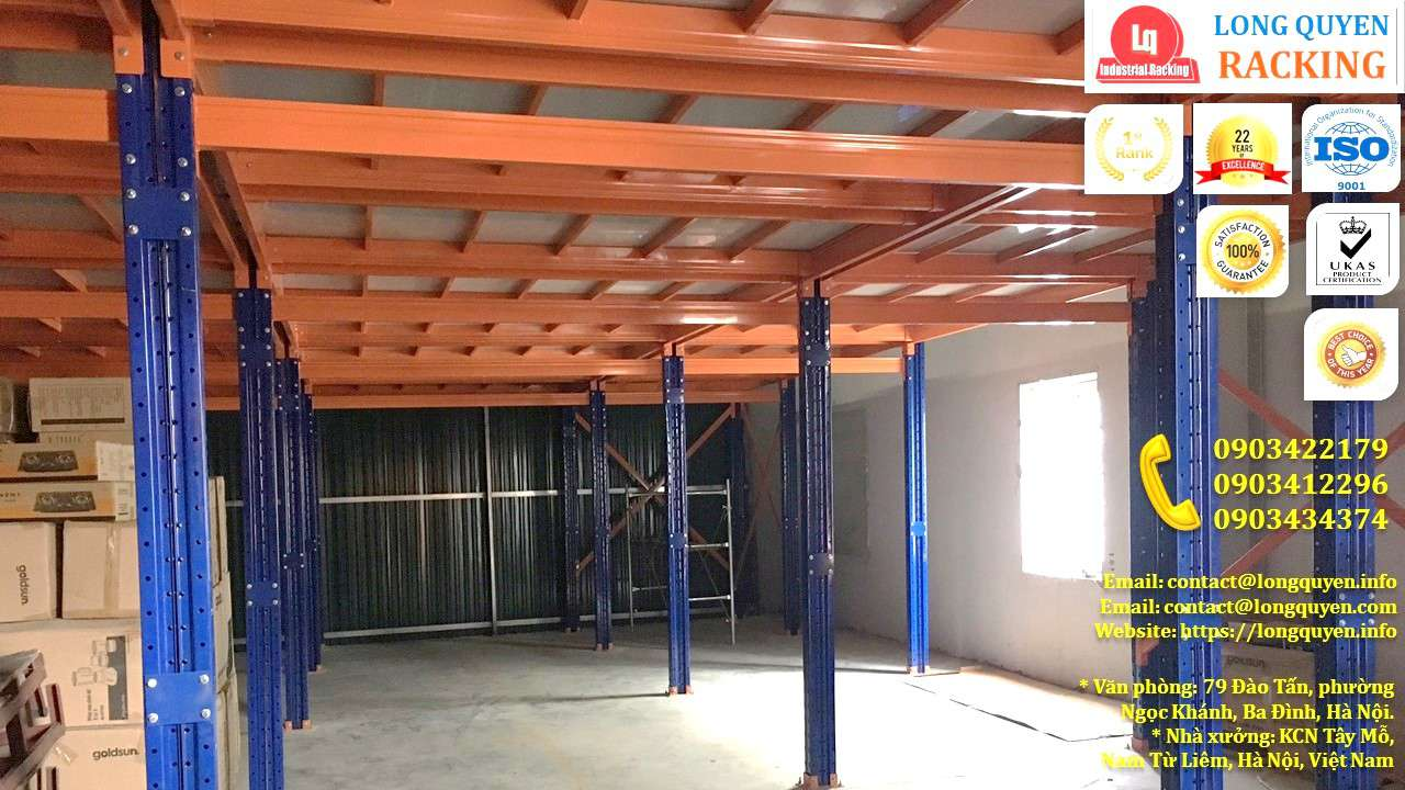 Kệ sàn tầng lửng lắp đặt tại kho hàng công ty Goldsun (9)