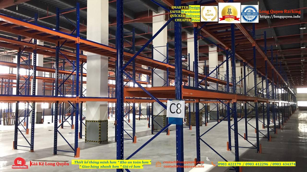 Kệ selective kệ sắt pallet lắp đặt tại kho hàng công ty An Phát (11)