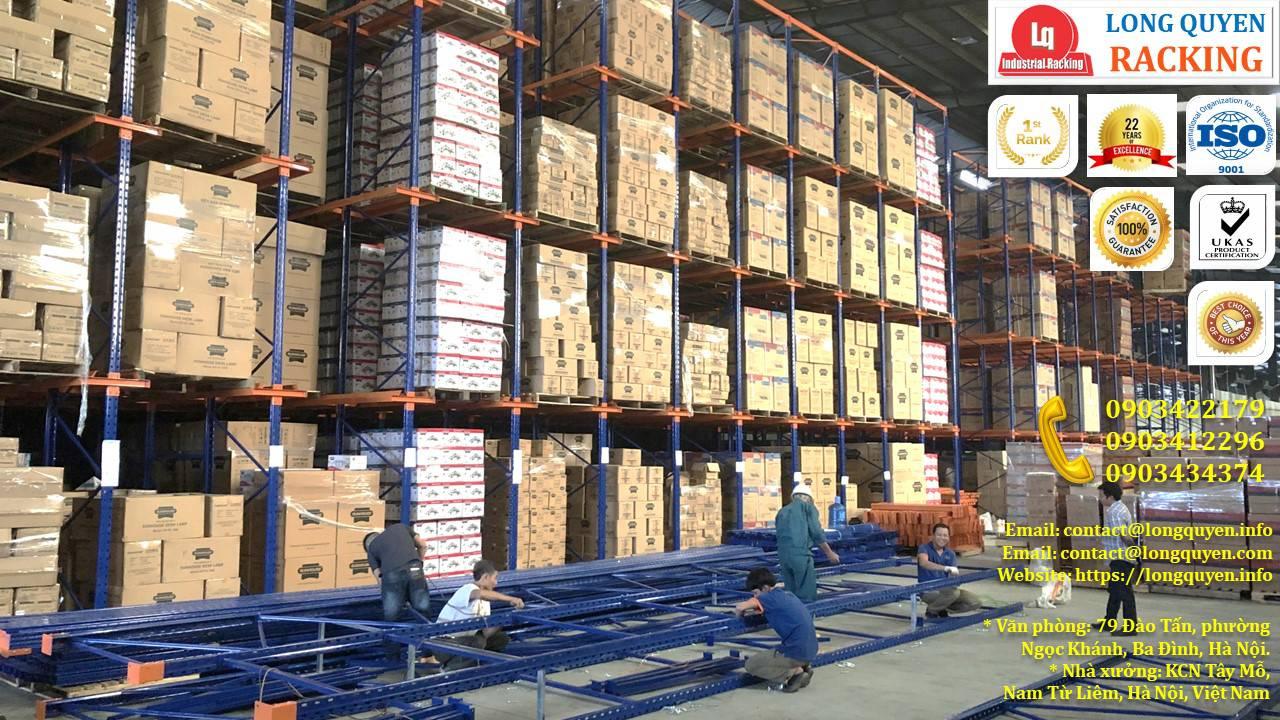 Kệ kho kệ Drive-In cao 10m lắp đặt tại công ty Sunhouse (1)