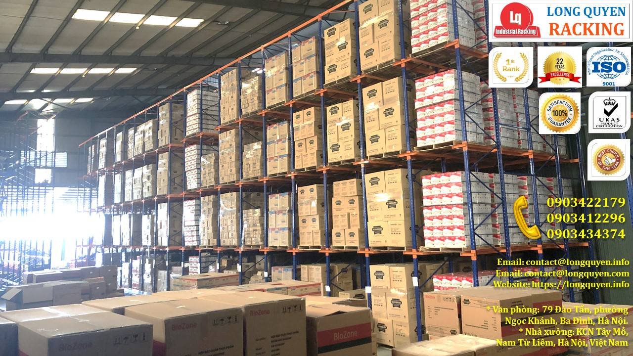 Kệ kho kệ Drive-In cao 10m lắp đặt tại công ty Sunhouse (10)