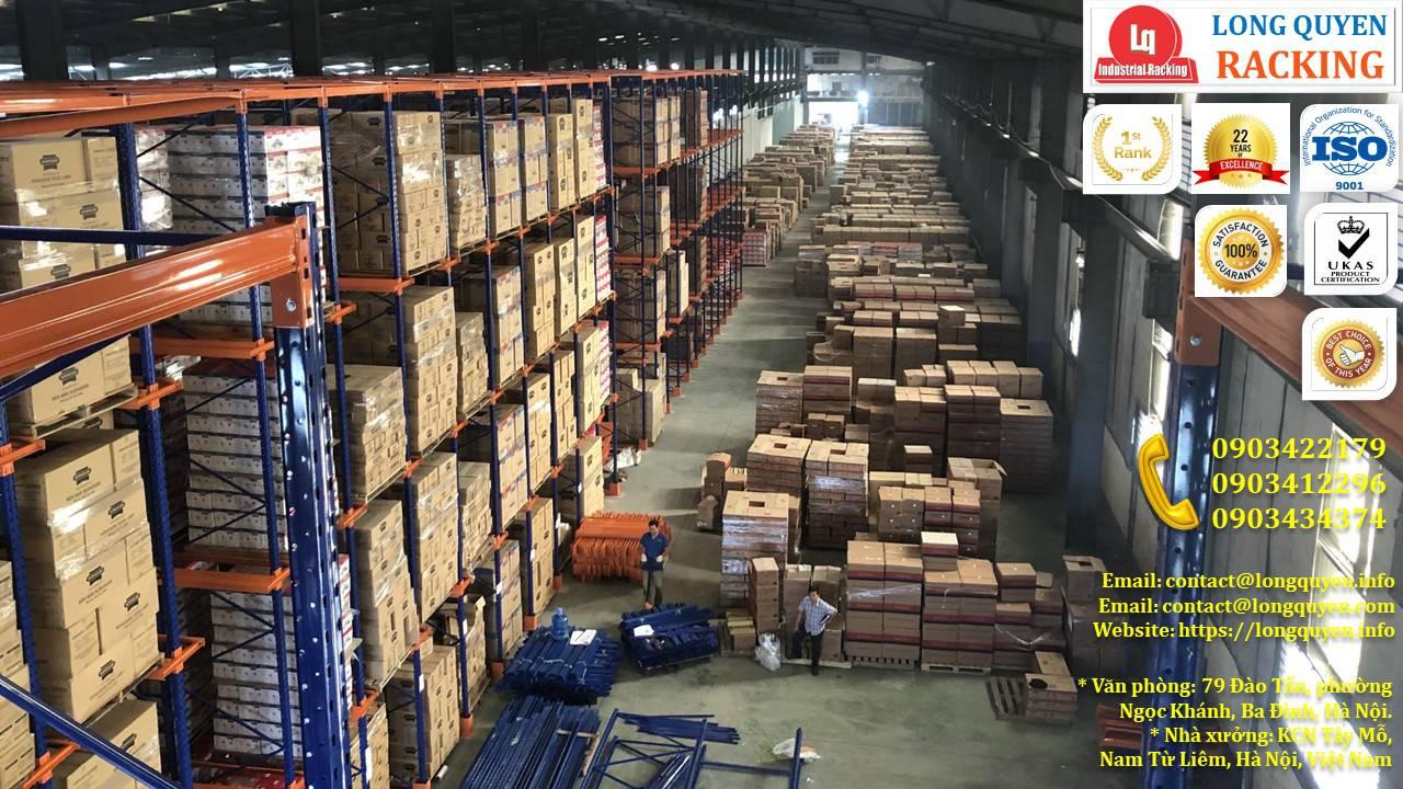 Kệ Drive-In kệ kho cao 10m lắp đặt tại công ty Sunhouse