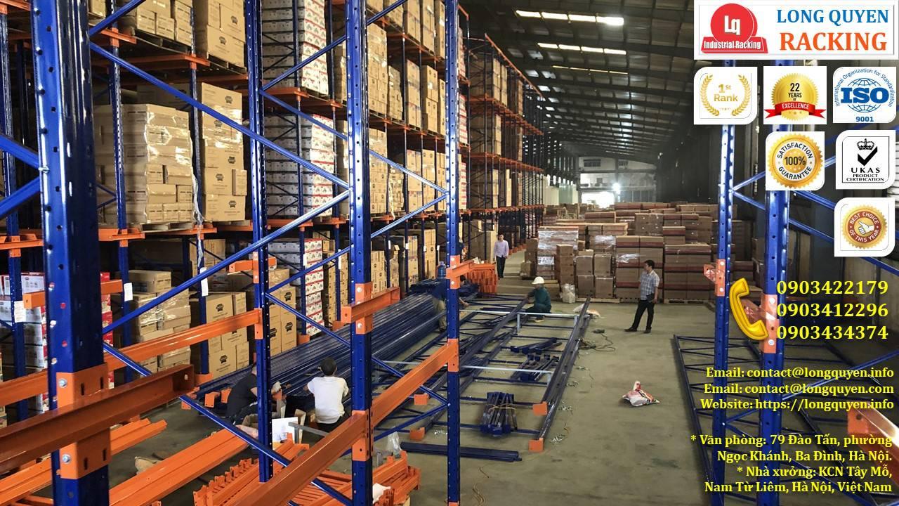 Kệ kho kệ Drive-In cao 10m lắp đặt tại công ty Sunhouse (3)