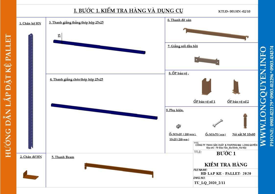 Hướng dẫn lắp đặt giá kệ pallet lựa chọn (pallet selective rack) (2)