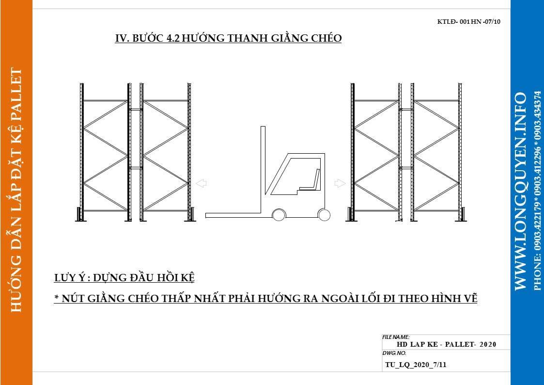 Hướng dẫn lắp đặt giá kệ pallet lựa chọn (pallet selective rack) (7)