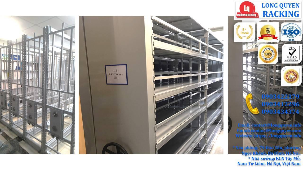 Kệ ray trượt 6 tầng kệ trượt kéo đa năng lắp tại Cty CPTM Gia Lâm (10)