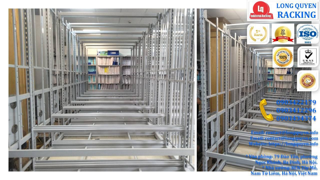 Kệ ray trượt 6 tầng kệ trượt kéo đa năng lắp tại Cty CPTM Gia Lâm (7)