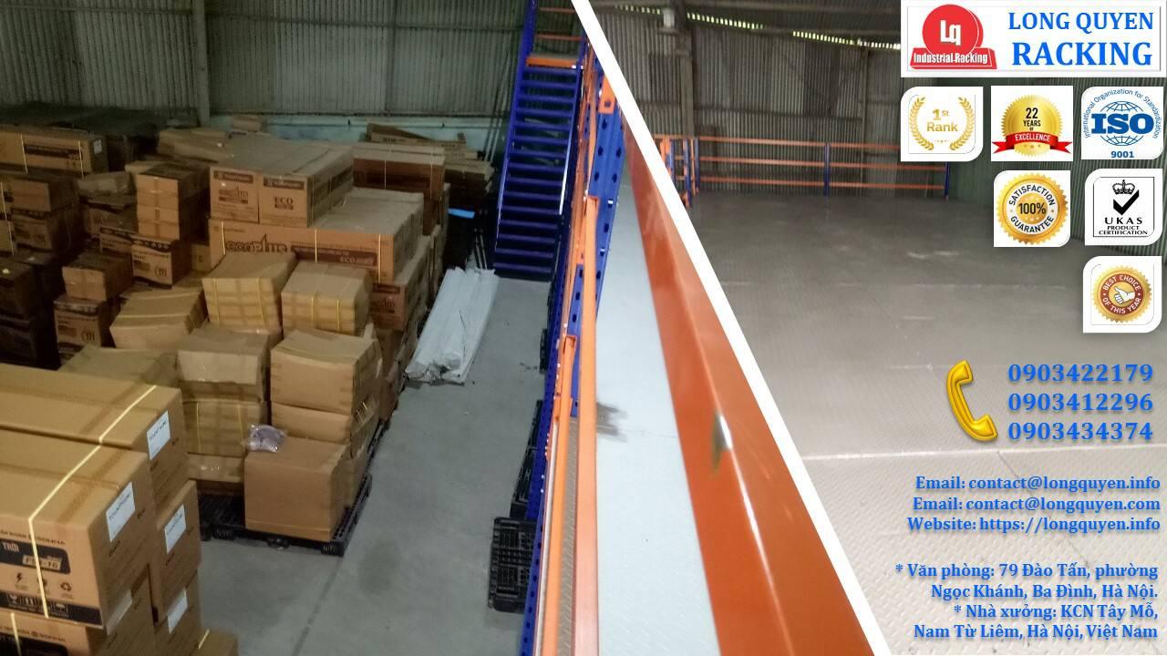 Làm gác xép sắt, sàn gác xép công nghiệp công ty Toàn Thắng (4)