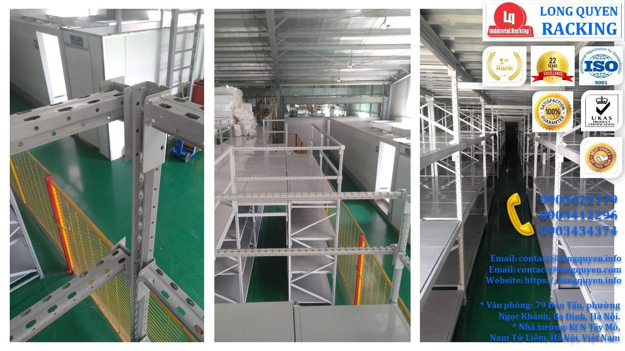 Sàn tầng lửng trên nóc hệ thống kệ trung tải công ty Sunhouse (11)