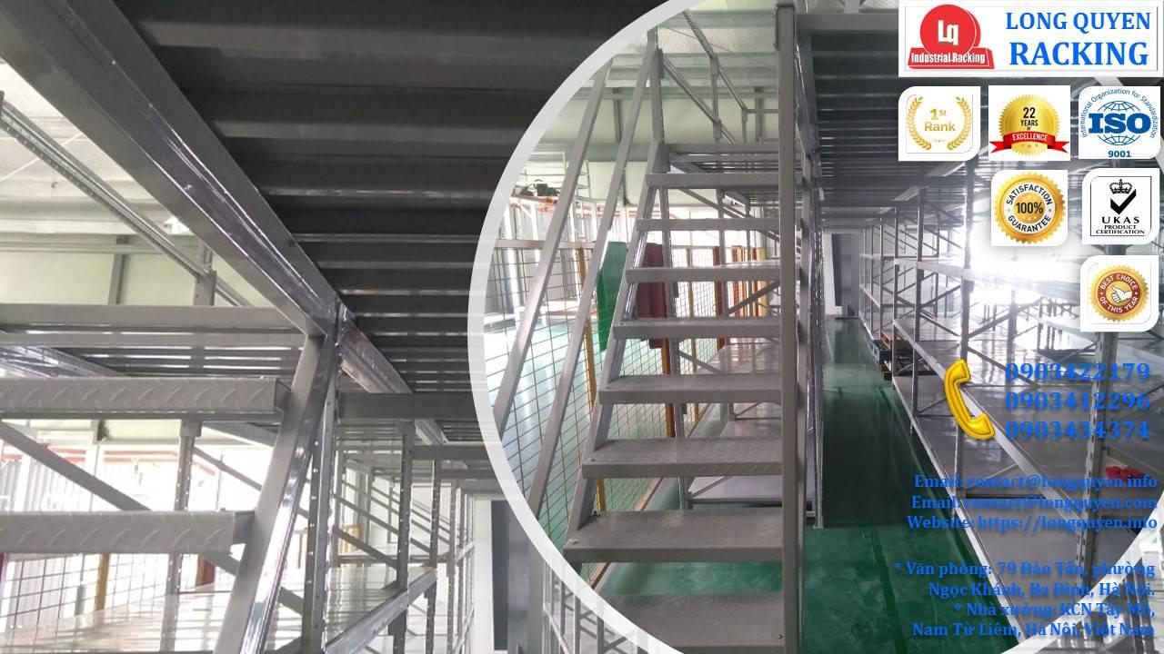Sàn tầng lửng trên nóc hệ thống kệ trung tải công ty Sunhouse (9)