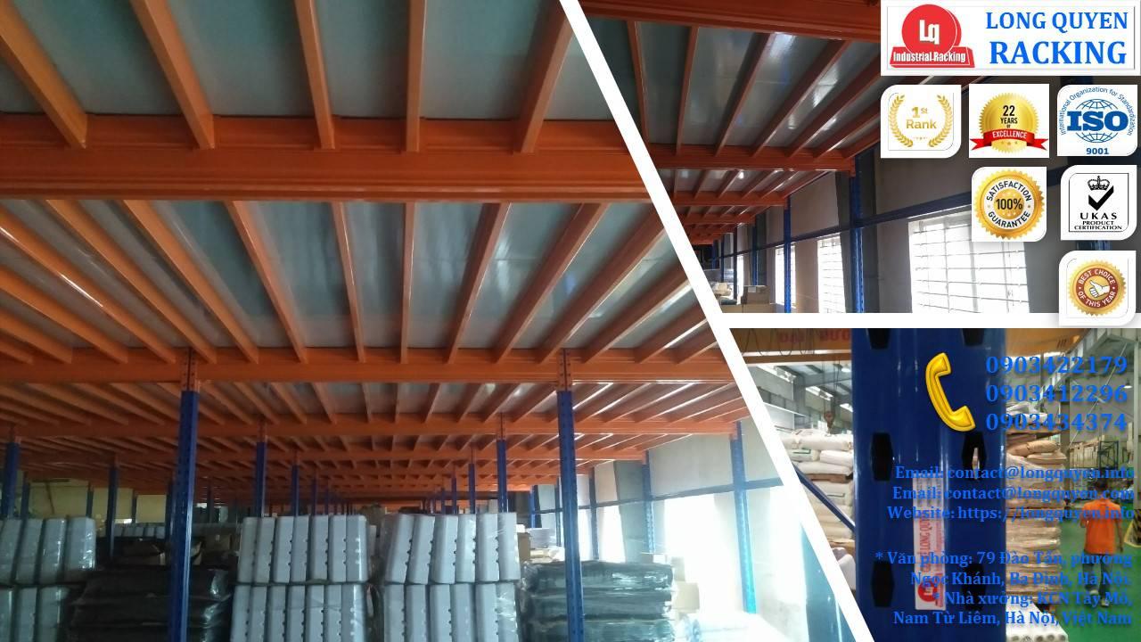 Tầng lửng gác xép sàn mezzanine công nghiệp công ty Ferroli (11)