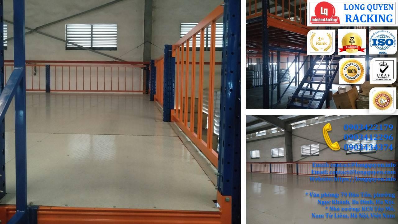 Tầng lửng gác xép sàn mezzanine công nghiệp công ty Ferroli (17)
