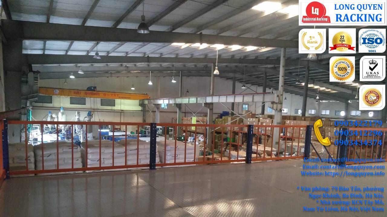 Tầng lửng gác xép sàn mezzanine công nghiệp công ty Ferroli (2)
