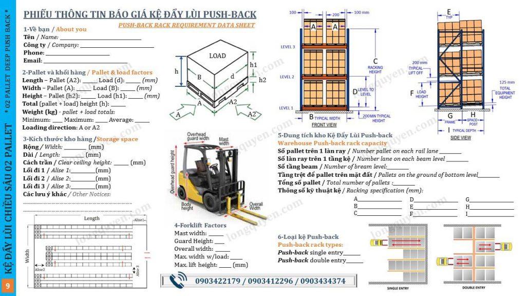 Kệ Đẩy Lùi 02 Pallet Deep Push-Back Rack (9)